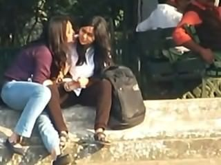 Indian - Lesbians Smooch Publicly