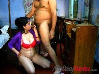 Savita Bhabhi Blowjob Takign Cumshot On Big Boobs Indian Sex