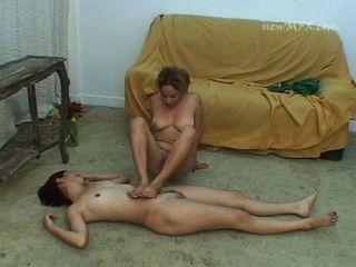 schoolgirl friends lesbian trample