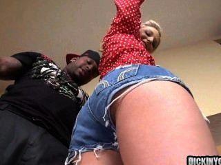 Blonde girl next door takes a massive cock 07